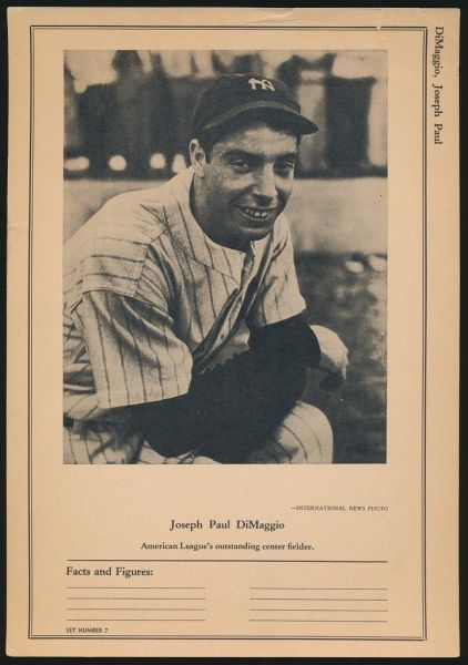 W603 Sports Exchange Miniatures Joe DiMaggio