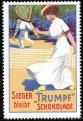 1912 Trumpf Chocolates Tennis Stamp