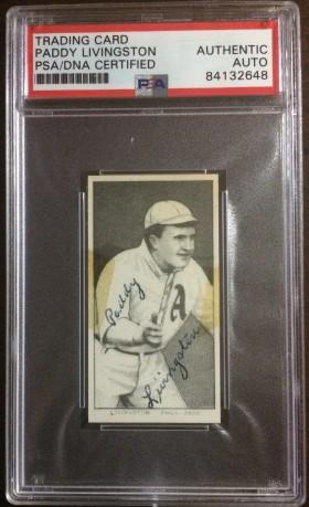 Paddy Livingston Autographed T206 Reprint