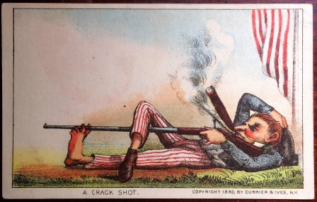 Uncle Sam Currier and Ives Trade Cards