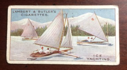 1914 Lambert and Butler Winter Sports Ice Yachting