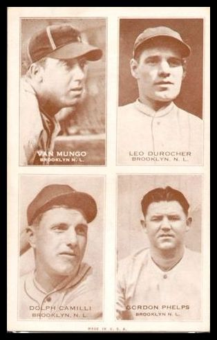 1938 Exhibit Dodgers