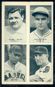 Babe Ruth Braves 1935 Exhibit