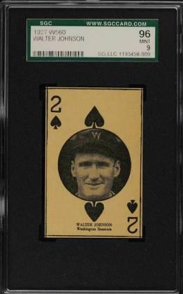 Walter Johnson SGC 9 W560 Strip Card