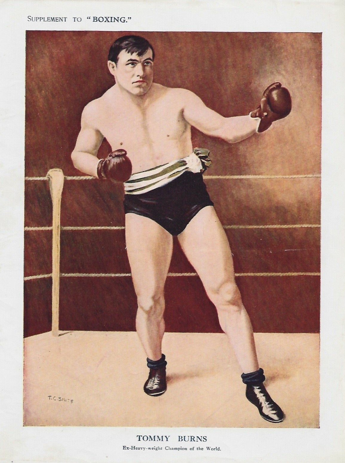 1910 Boxing Supplement Tommy Burns