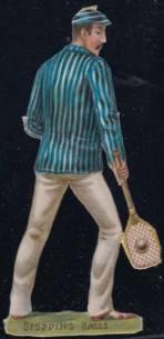 Raphael Tuck Tennis Die-Cut 3