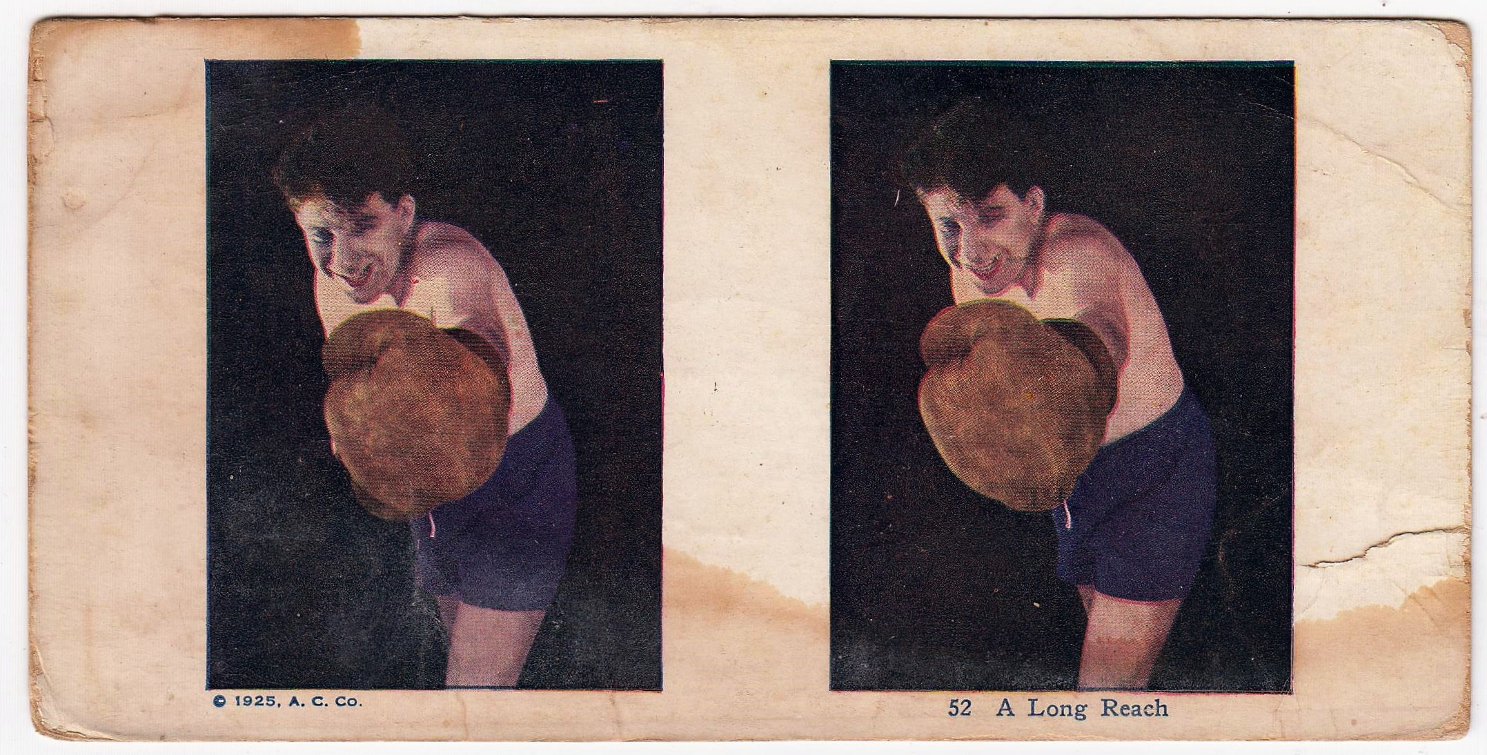1925 AC Stereoview Boxing Card