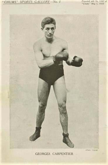 Georges Carpentier 1920 Chums Boxing Supplement