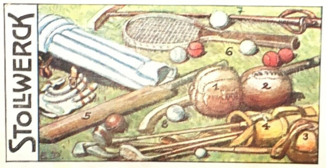 Stollwerck Equipment Baseball Card